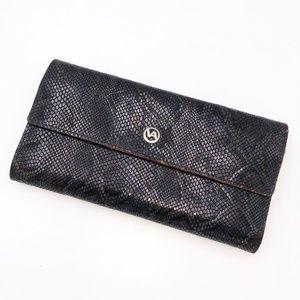 Valetina Genuine Leather Reptile Print Wallet